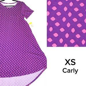 LuLaRoe XS Purple and pink Carly Dress
